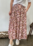 WATERCOLOUR  SKIRT - PINK FLORALS