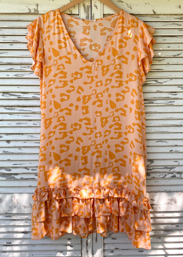 SOPHIA DRESS - TANGERINE LEOPARD
