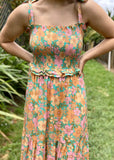 AUDREY SUNSET MAXI DRESS - GREEN FLORAL
