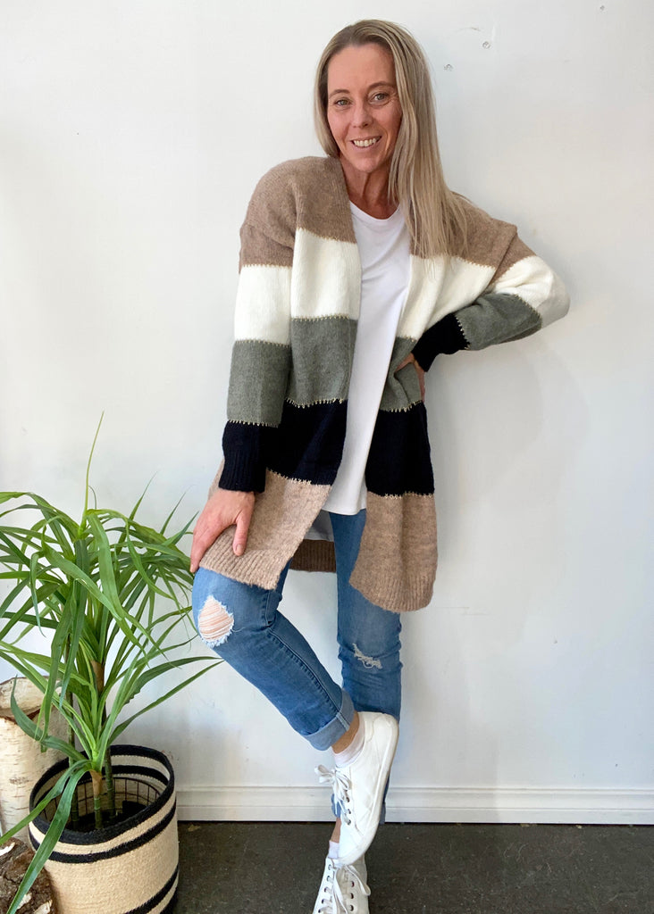 LAUREL CARDIGAN - STRIPE MULTI