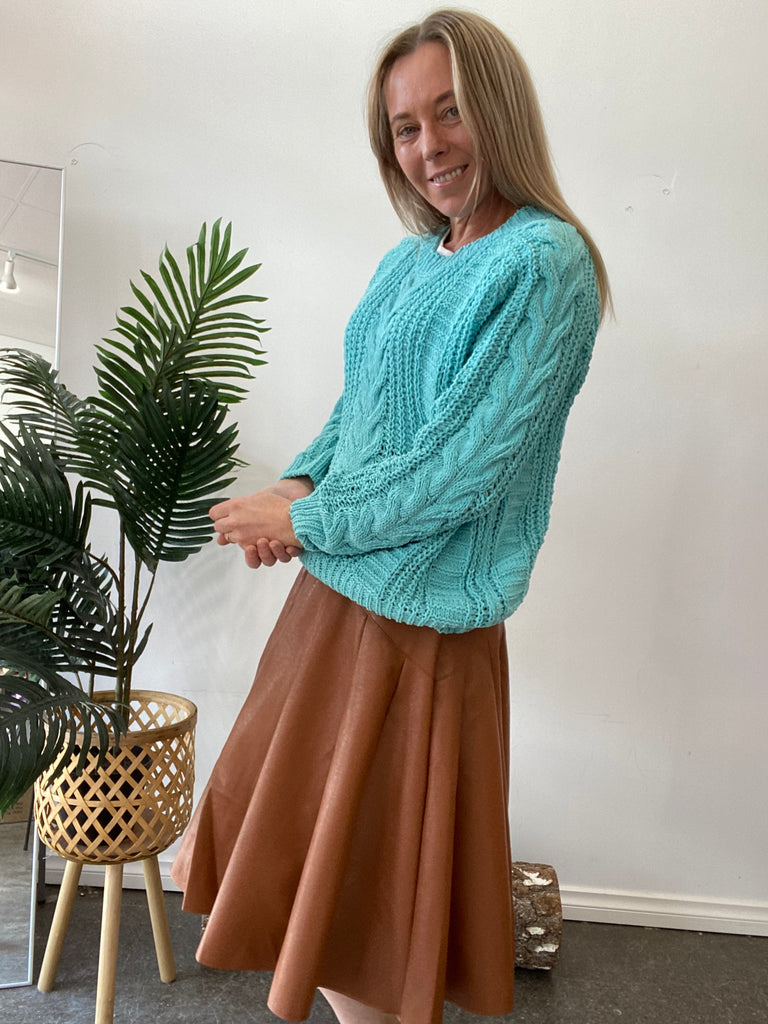 KATIE KNIT JUMPER - TURQUOISE