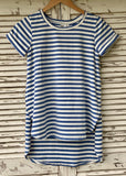 LIVY STRIPE TEE - BLUE / WHITE