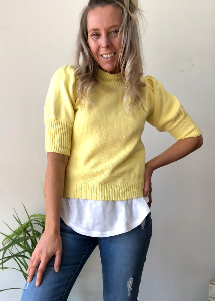 CHLOE SWEATER - LEMON