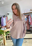 KINDNESS LONG SLEEVE BASIC - DUSTY PINK