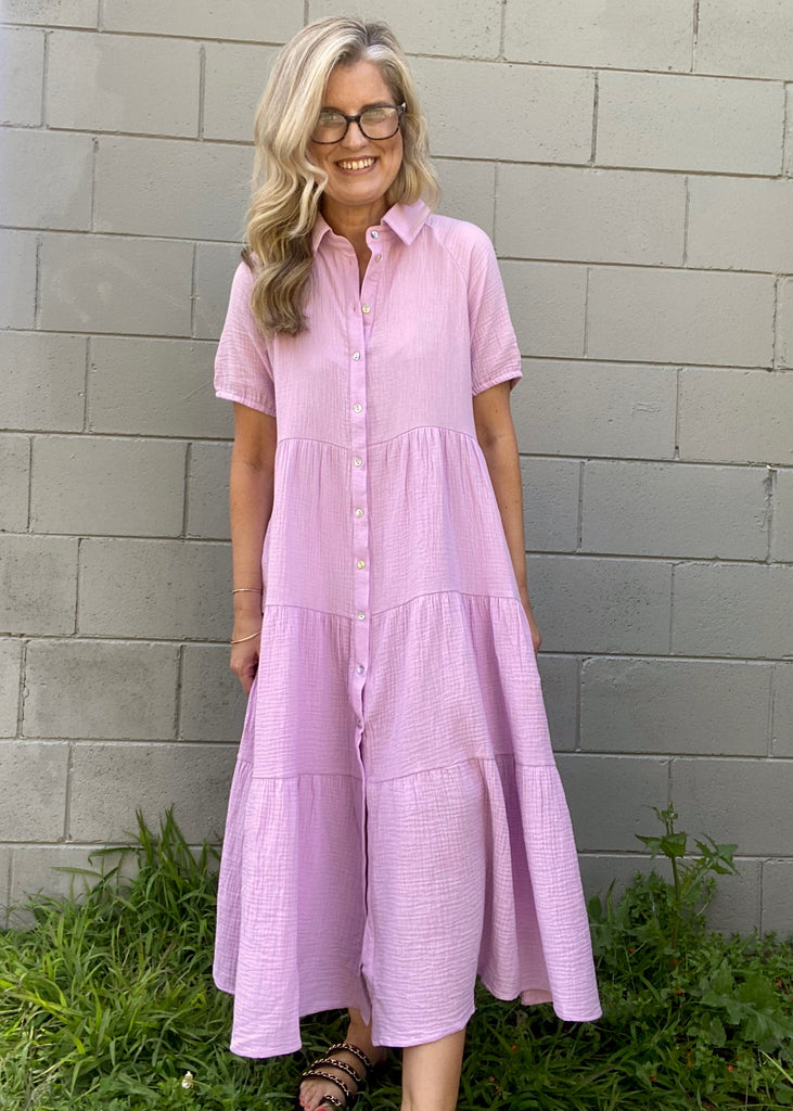 ST TROPEZ DRESS - LILAC