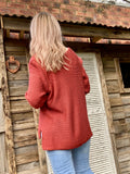 HOLLY KNIT JUMPER - RED EARTH
