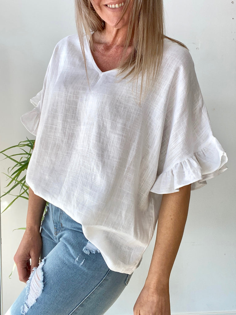 BILLIE KATE TOP - WHITE