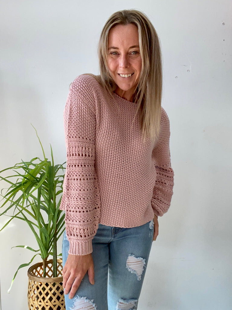 KELLY KNIT - BLUSH