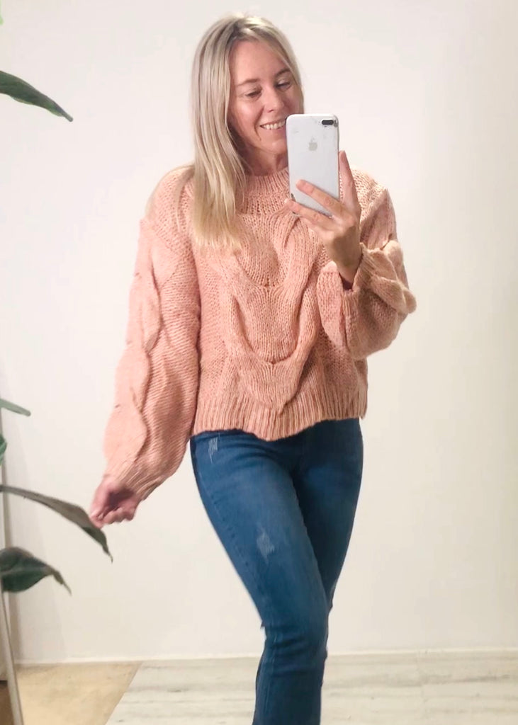 MIA KNIT JUMPER - BLUSH