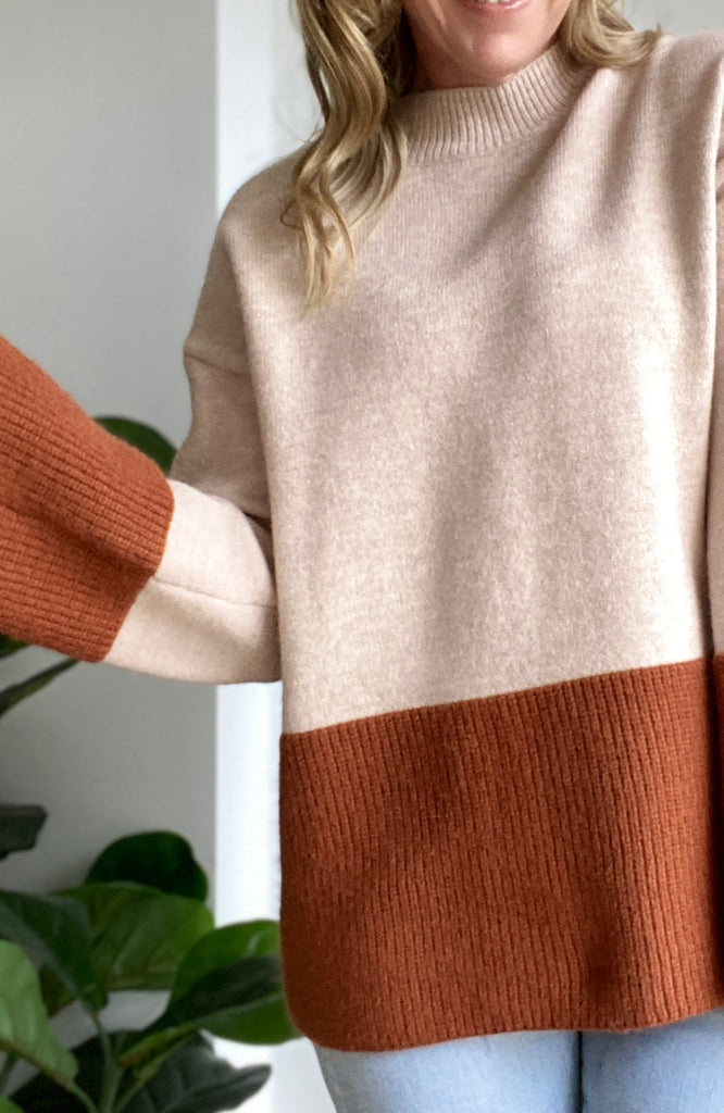 INDY KNIT JUMPER - CHOCOLATE