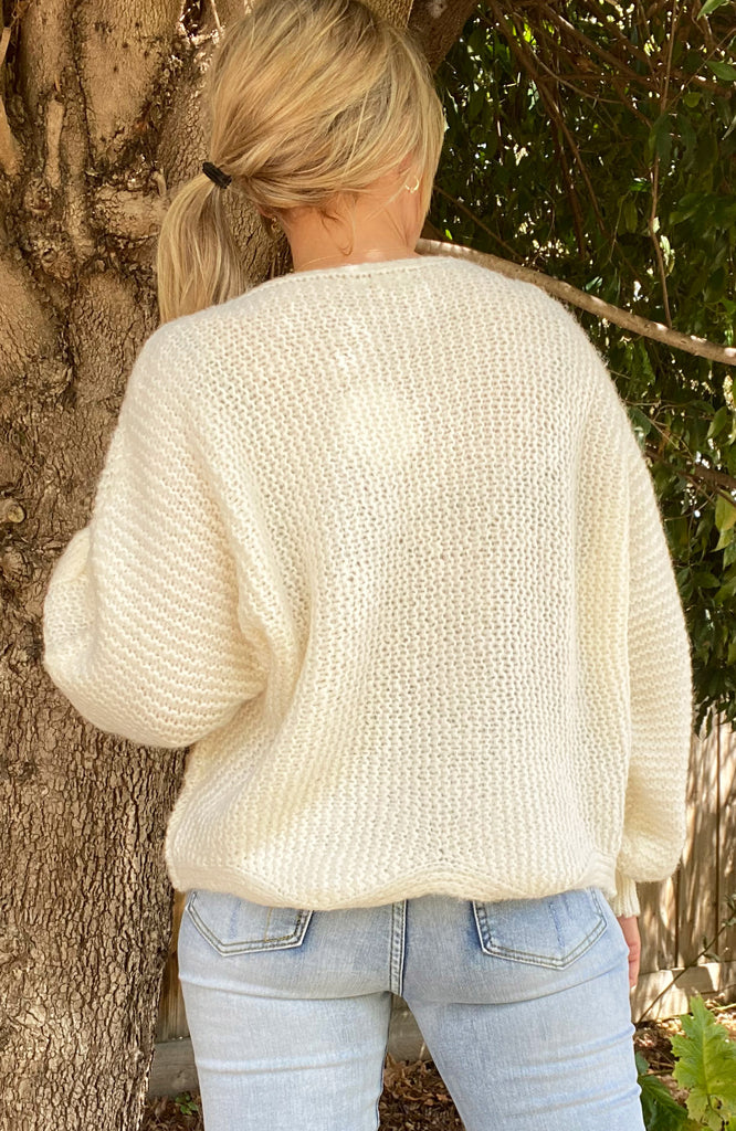 MANDY BOATNECK SWEATER - CREAM