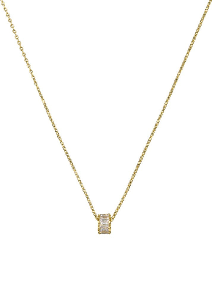 Ingrid Crystal Necklace - Gold
