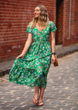 JASMINE BUTTON MAXI DRESS - GREEN