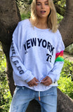 NEW YORK RETRO SWEAT - LIGHT GREY