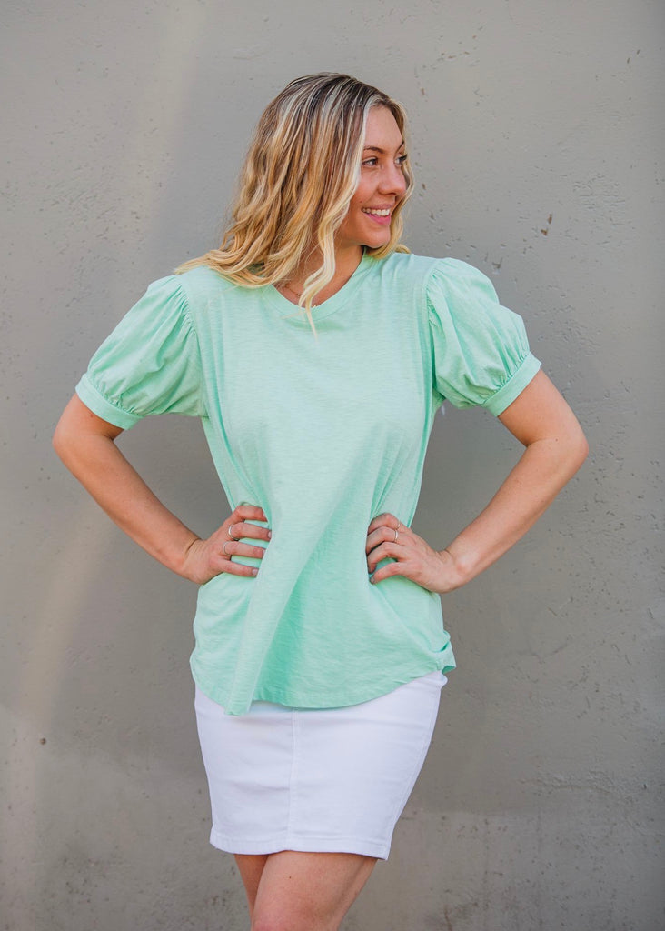 PUFF SLEEVE TEE - MINT
