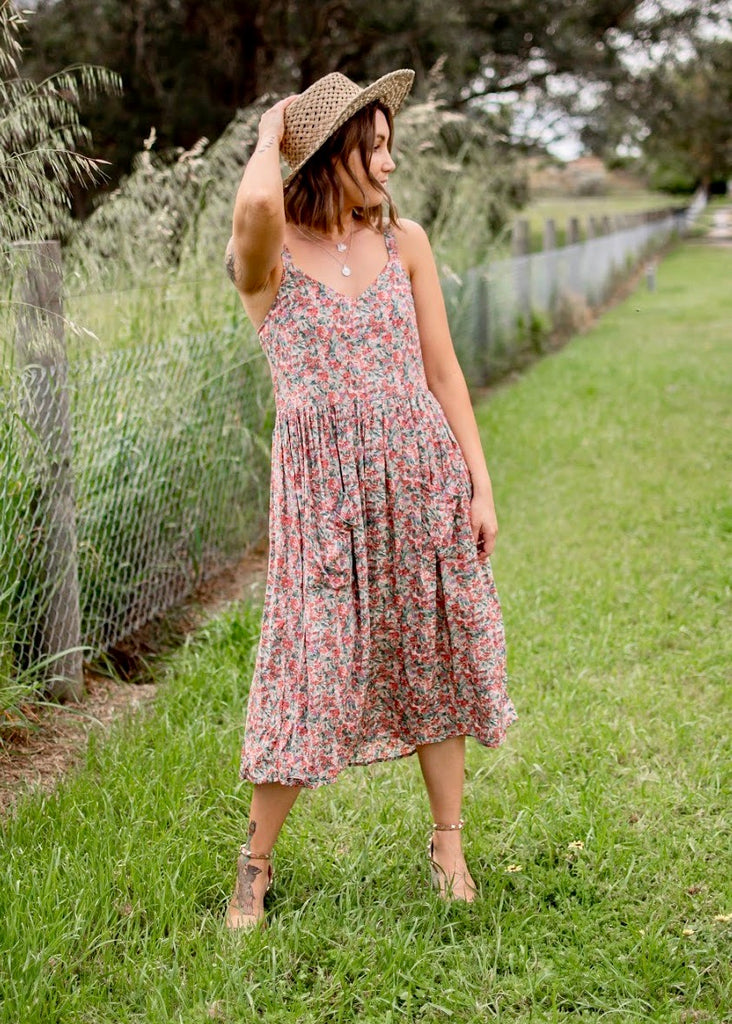 EMERSON DRESS - RUST FLORAL