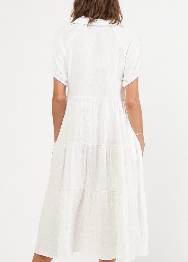ST TROPEZ DRESS - WHITE