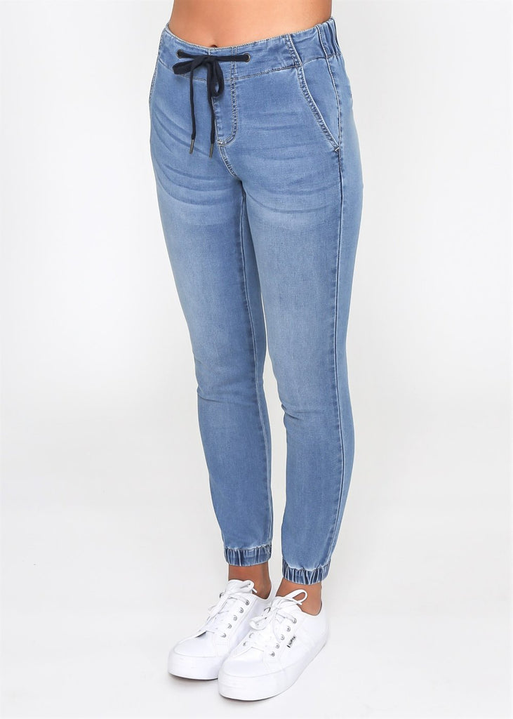 HAYDEN DENIM JOGGER - BLUE