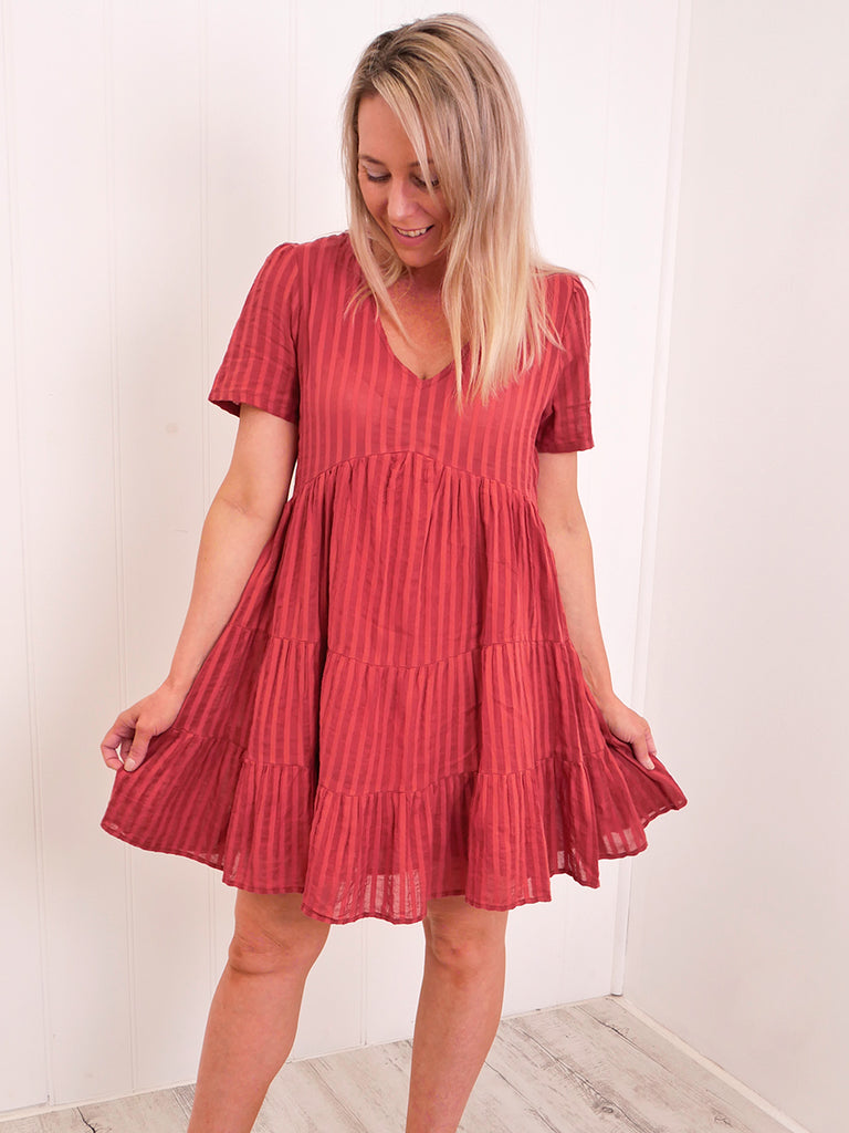 ANNALISA TUNIC DRESS - BURNT RUST