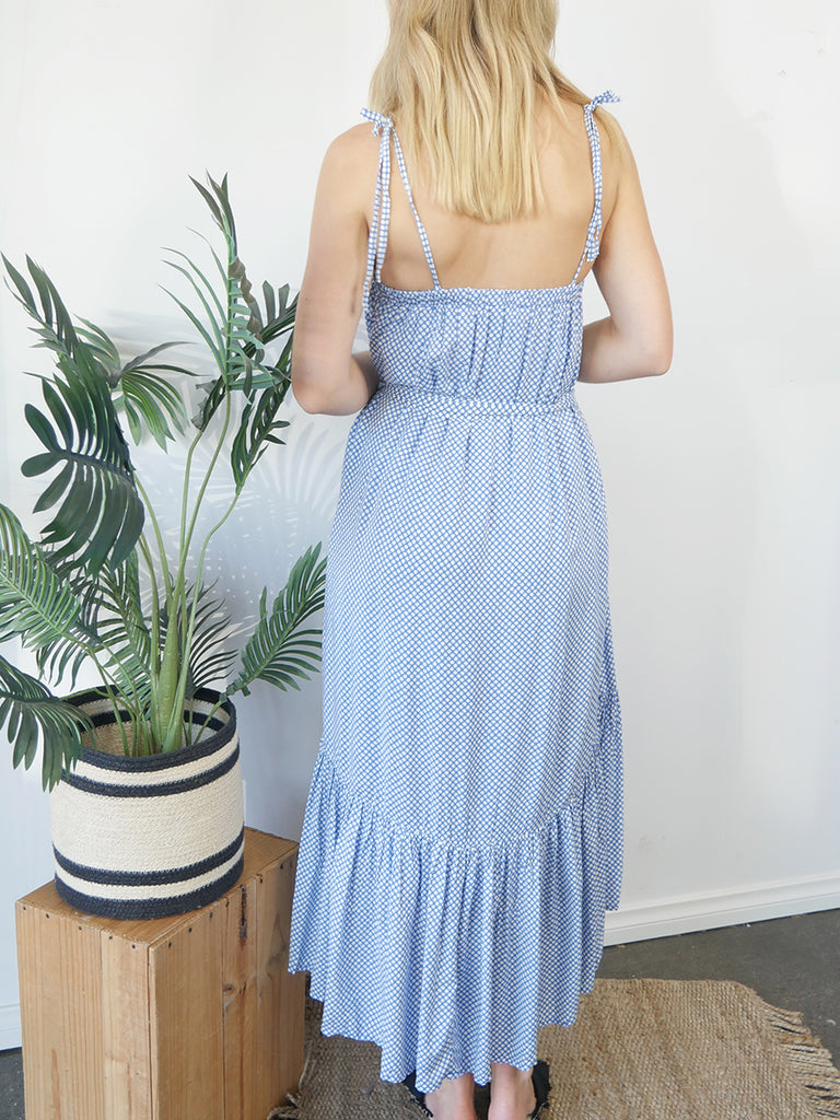 TESSA DRESS - BLUE PRINT