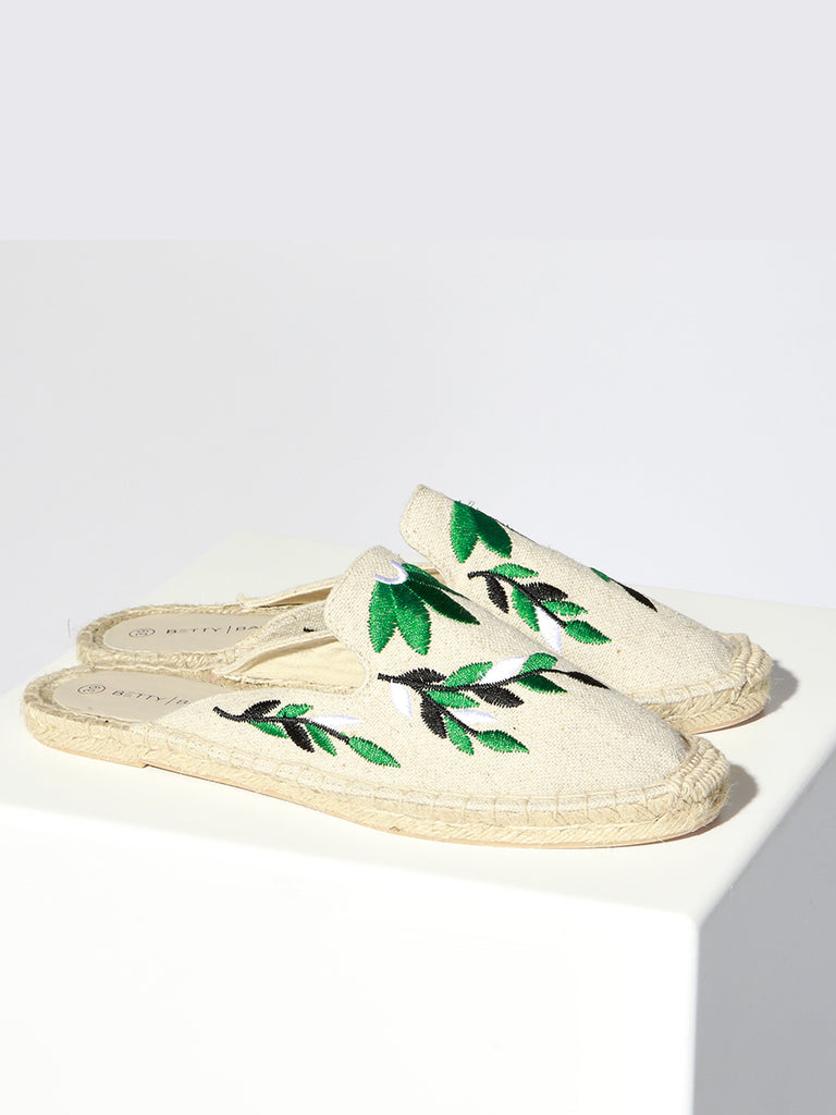 FIESTA CANVAS MULE - NATURAL
