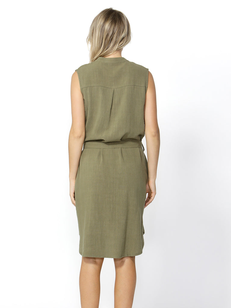 KACE MIDI DRESS - KHAKI