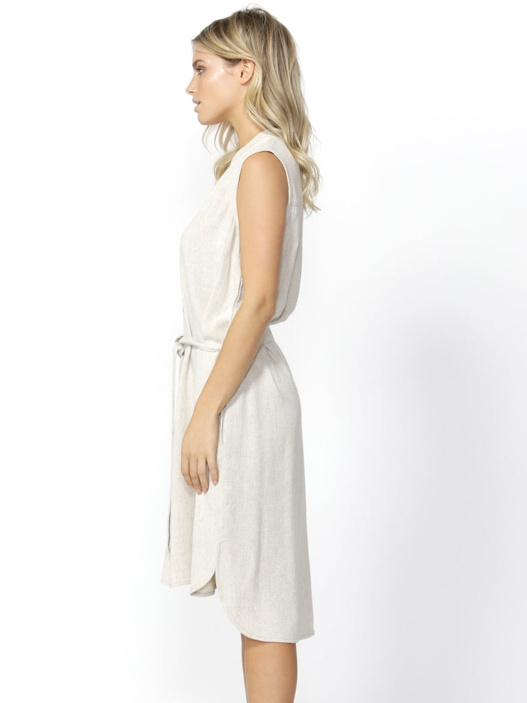 KACE MIDI DRESS - NATURAL