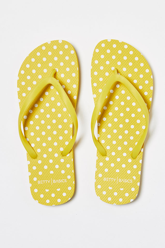 NOMAD THONGS - YELLOW