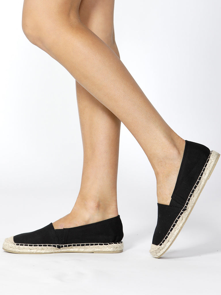 VACATION ESPADRILLE PULL ON - BLACK