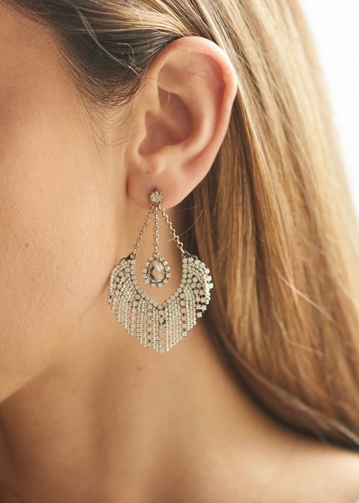 Maris Earrings - White