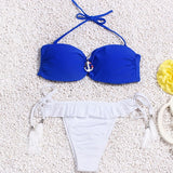 Brazilian Bikini set String Reversible Bathing Suit Halter High Neck Bikinis Women Swimwear Swimsuit Biquinis maillot de bain