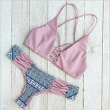 Bikinis Sexy Women Swimsuit Bandeau Biquinis Padded maillot de bain Femme Monokini Push Up Bikini Set Summer Beachwear