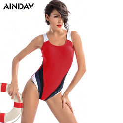 Sports Swimwear Women One Piece Brand Racerback Swimsuit Monokini High Quality Slim Bathing Suits