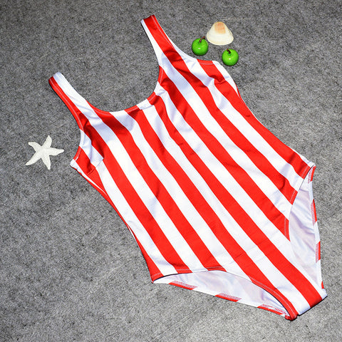 Women Swimsuit One Pieces Swimwear Female Stripe Bikini Push Up Jumpsuit Vest Bathing Suit Beach Bather Summer