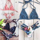 Sexy Bikini Swimwear Women Push Up Swimsuit Bandage Bikini Set Brazilian Summer Beach Bathing Suits female Biquini Print