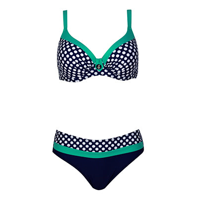 2018 New Swimsuit Bikini Sexy Polka Dot Large Cup Bar small Bottom Bathing Suit Push Up Swimwear LD516