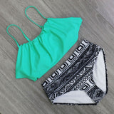 Bikinis Women Swimwear High Waist Swimsuit Halter Sexy Bikini Set Retro Bathing Suits Plus Size Swimwear XXL