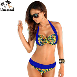 push up bikini swimsuit women bikini bathing suit swimsuit female high waist swimsuit solid plus size