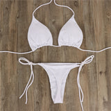 Women Sexy Bikinis Bandeau Bandage Bikini Set Push-Up Brazilian Swimwear Beachwear Swimsuit 2019 Mujer Solid Maillot De Bain#15