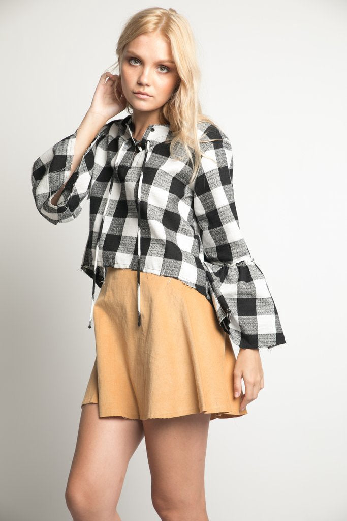 RUE STIIC Apache Top in Check