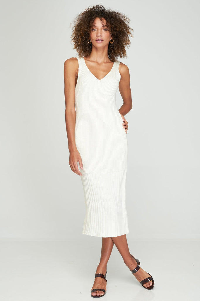 RUE STIIC Dayle Knit Dress in Cream