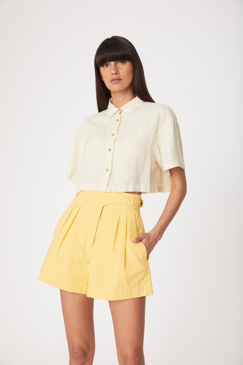 ROWIE EVE SHIRT WASHED LEMON