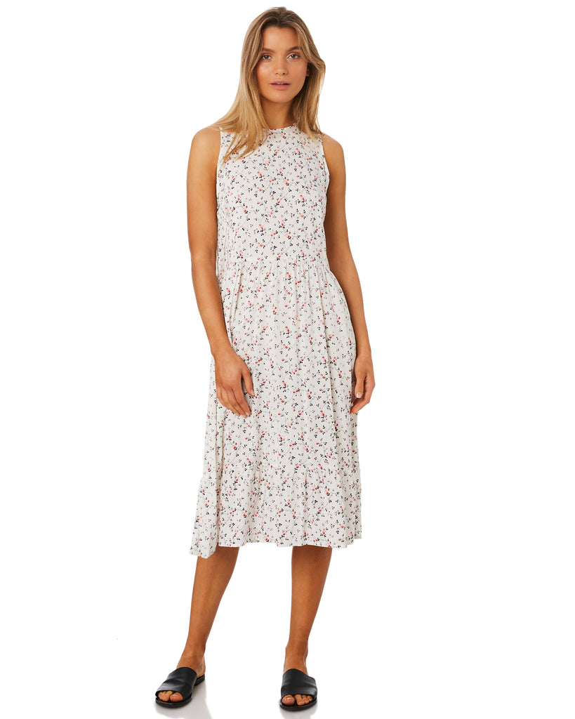 LILYA Pinta Dress in Ivory Floral