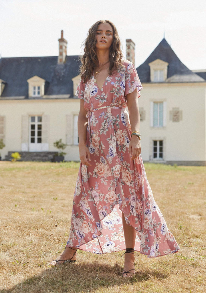 AUGUSTE Pascal Muse Wrap Maxi Dress Rose