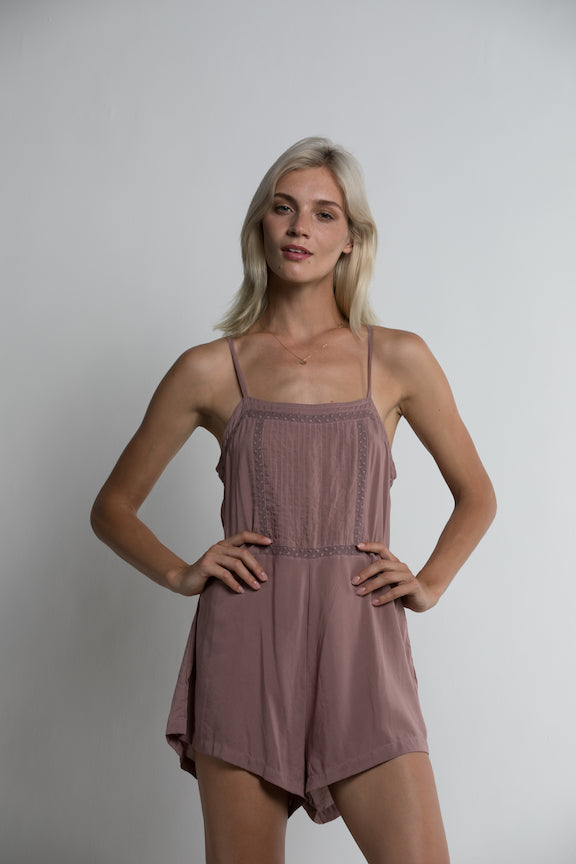 LILYA Rio Playsuit in Orchid