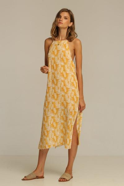 RUE STIIC Rita Midi Dress in Honey Palm