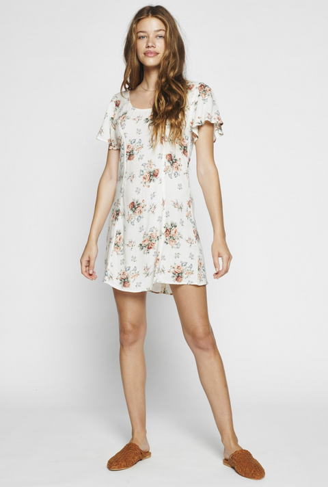 AUGUSTE Rose Sophia Mini Dress in White