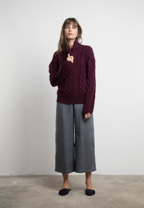 LILYA Madison Knit Jumper in Wine