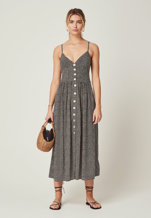 AUGUSTE Tear Drop Staple Midi Dress