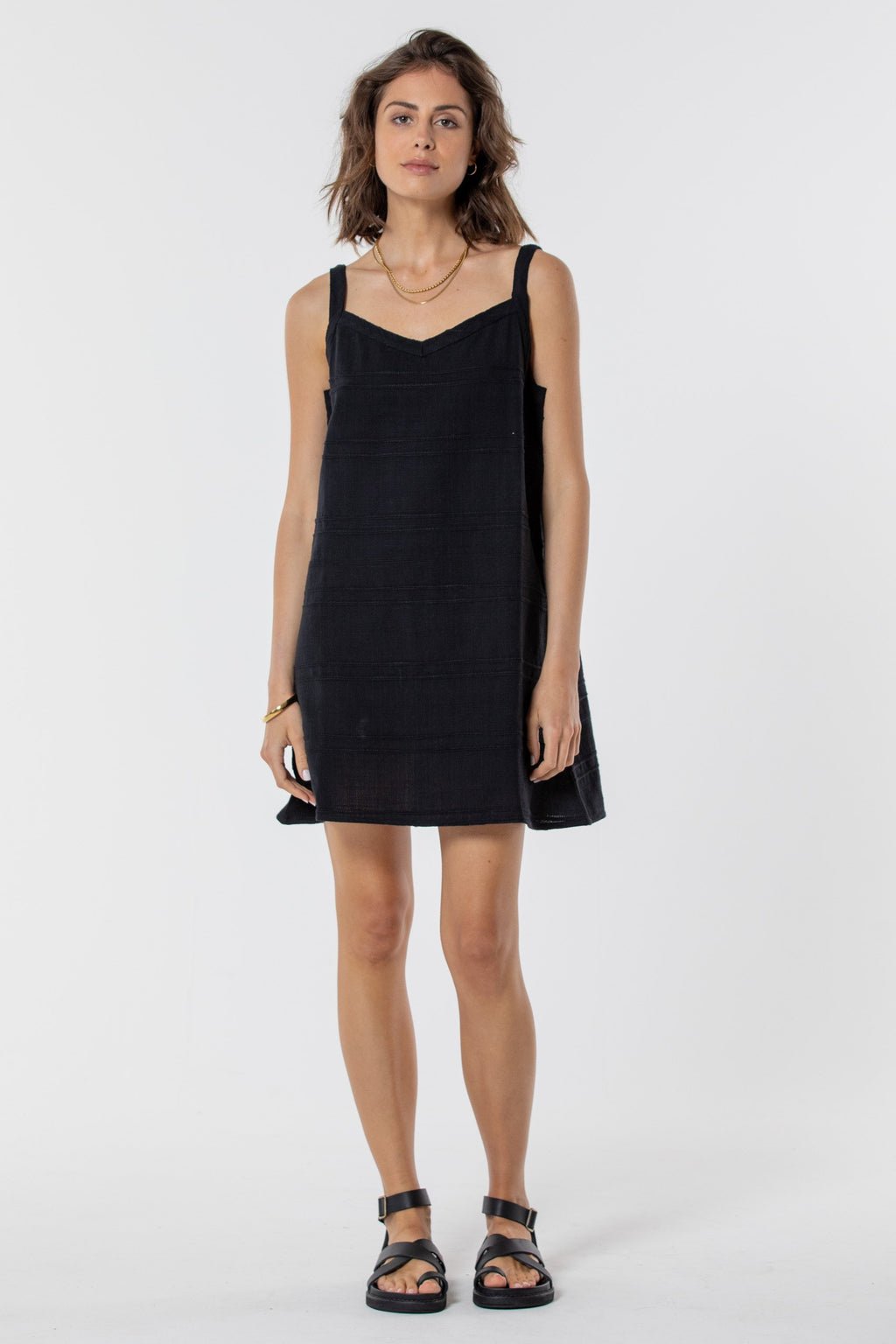 Saint Helena SOUTHBEACH MINI DRESS - NOIR BLACK